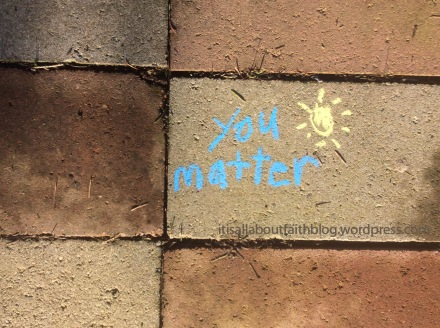 You matter blue chalk