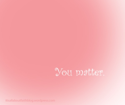 You matter curly pink