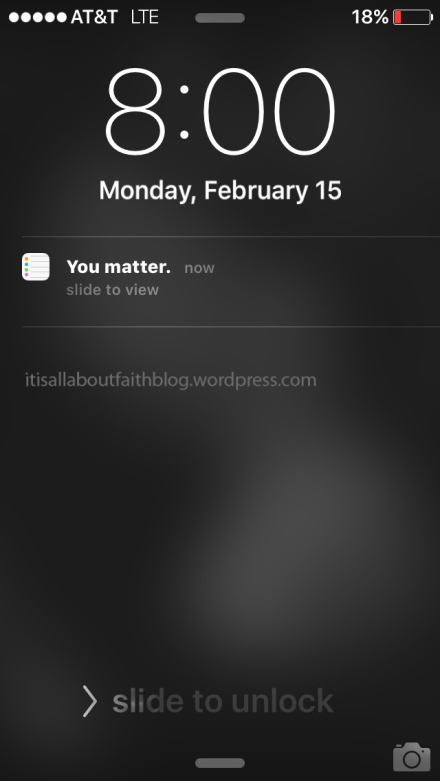 You matter phone calendar reminder
