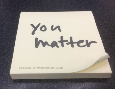 You matter post it note