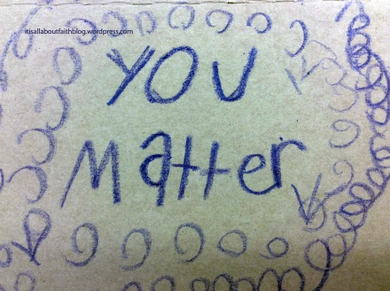 You matter purple crayon